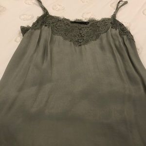 NWT ABERCROMBIE AND FITCH LACE TRIM CAMI